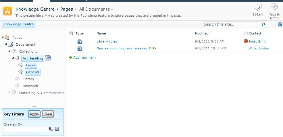 access knowledge base template - sharepoint 2010 creating a knowledge base part 1