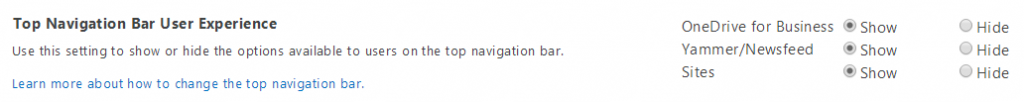 TopNavigationBarSettings